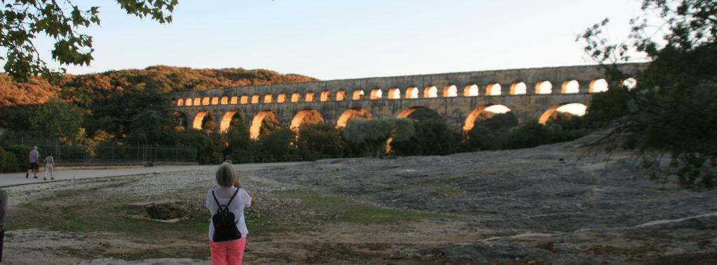 Akvedukten ved Pont de Gard, bygget for ca 2000 år siden (Foto: K. Gransæther)